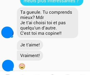 amour, conversation, and sms image