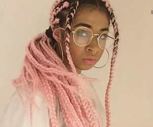 glasses, pink, and melanin image