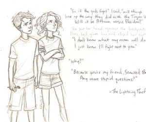 percy jackson, annabeth chase, and percy image