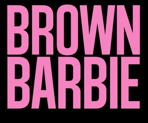 barbie, brown barbie, and pink image