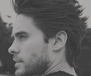 jared leto, 30 seconds to mars, and black and white image