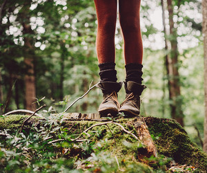 forest, boots, and nature image