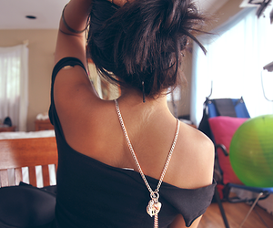 blogger, hair, and necklace image