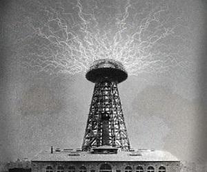 nikola tesla, Tesla Coil, and tower image