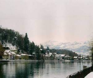 city, cold, and lake image