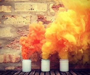 orange, yellow, and smoke image