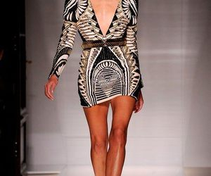 Balmain, dress, and black and gold image