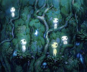 princess mononoke, kodama, and anime image
