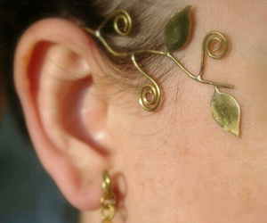 accessories, earrings, and elvish image