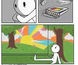 sad, colors, and art image