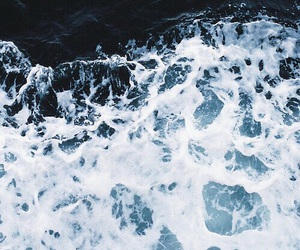 sea, blue, and water image