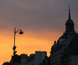church, france, and sky image