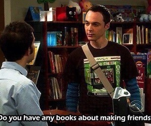friends, book, and sheldon image