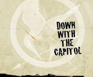 the hunger games, mockingjay, and capitol image