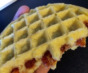 fat girl, food, and waffles image