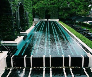 design, hedges, and pool image