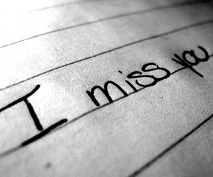 i miss you and sad image