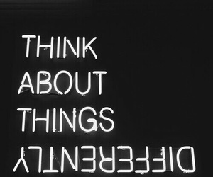 quotes, think, and black image