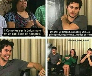 dylan, funny, and maze runner image
