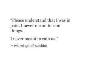 heartbreak, pain, and quote image