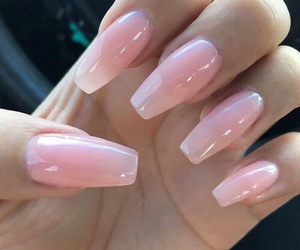nails, schattig, and pink image