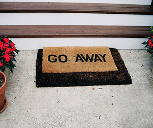 go away, flowers, and away image