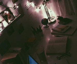 cozy, desk, and inspiration image