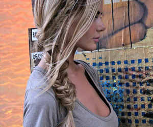 Beautiful Girls, curled hair, and beautiful hair image