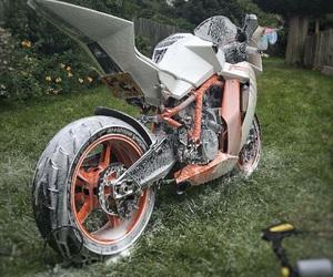 motorcycle, wash, and motorrad image