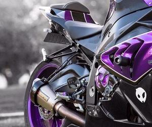 motorcycle, purple, and motorrad image