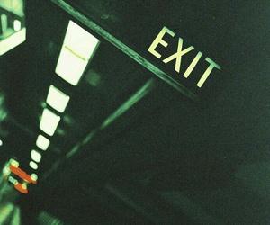exit, dark, and grunge image
