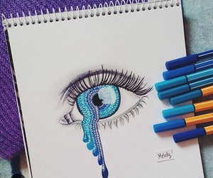 blue, eye, and art image