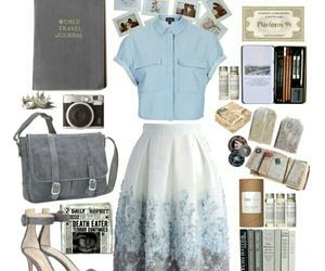 book, harry potter, and outfit image