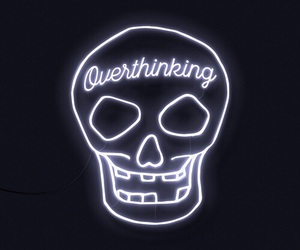 light, overthinking, and neon image