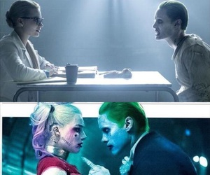 harley quinn, joker, and harley and joker image