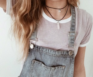 jumpsuit, denim overall, and overall image