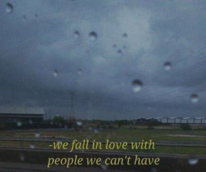 love, quotes, and rain image