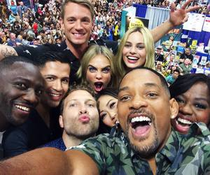 margot robbie, suicide squad, and will smith image