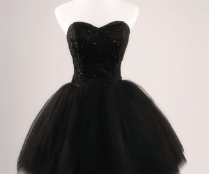 dress, black, and girly image