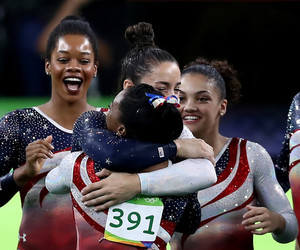 women, gold medal, and usa team image