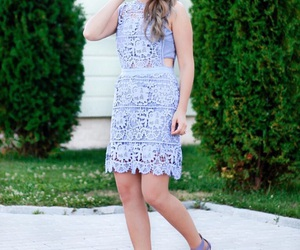 blogger, lace, and outfit image