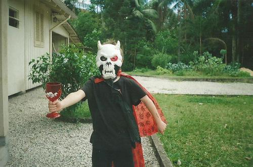 boy, demon, and Halloween image