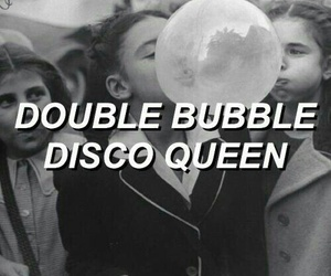 black and white, panic! at the disco, and bubble gum image