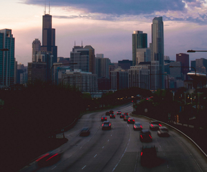 city, car, and sky image