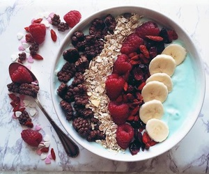 food, fitness, and fruit image