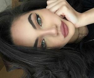black nails, braids, and brunette image