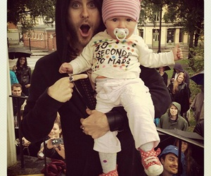 jared leto, baby, and 30 seconds to mars image
