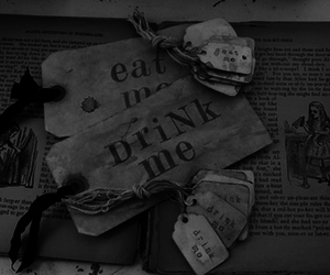 alice, book, and eat me image
