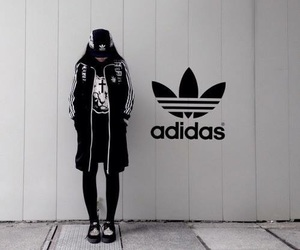 adidas, black, and aesthetic image