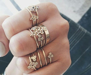 beautiful, rings, and silver image